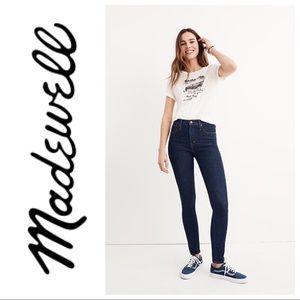 """Madewell 10"""" high rise skinny jeans dark wash 29"""